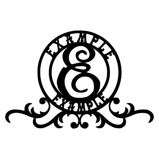 Custom Monogram: Circular 3