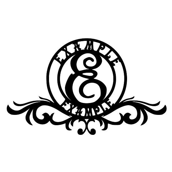 Custom Monogram: Circular 2