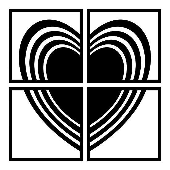 4-Piece Panel Heart