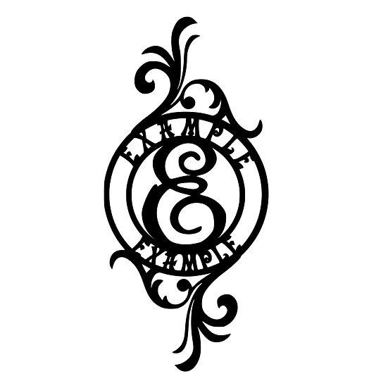 Custom Monogram: Circular 4