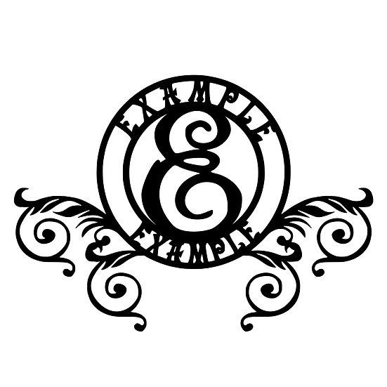 Custom Monogram: Circular 1