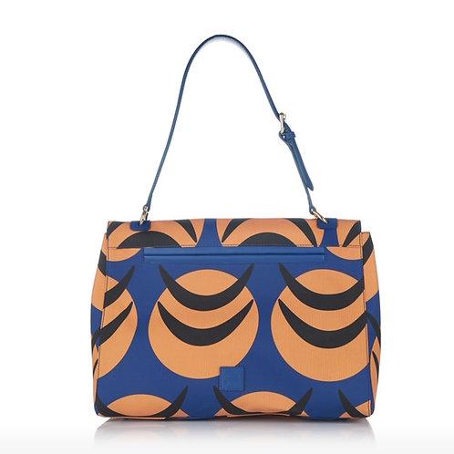 The blue insignia bag