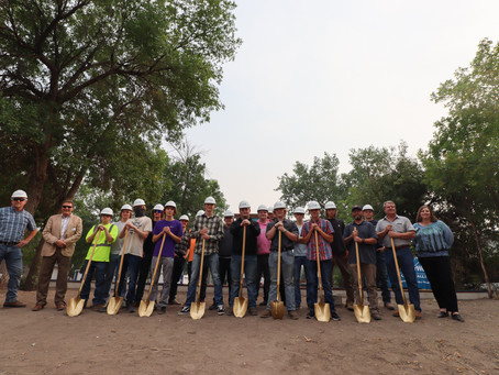 Record Number of Students Break Ground on High School House