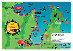 Round the Bays 2021 Course Map