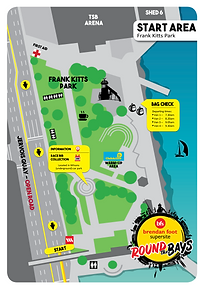 Round the Bays 2021 Frank Kitts Park Map