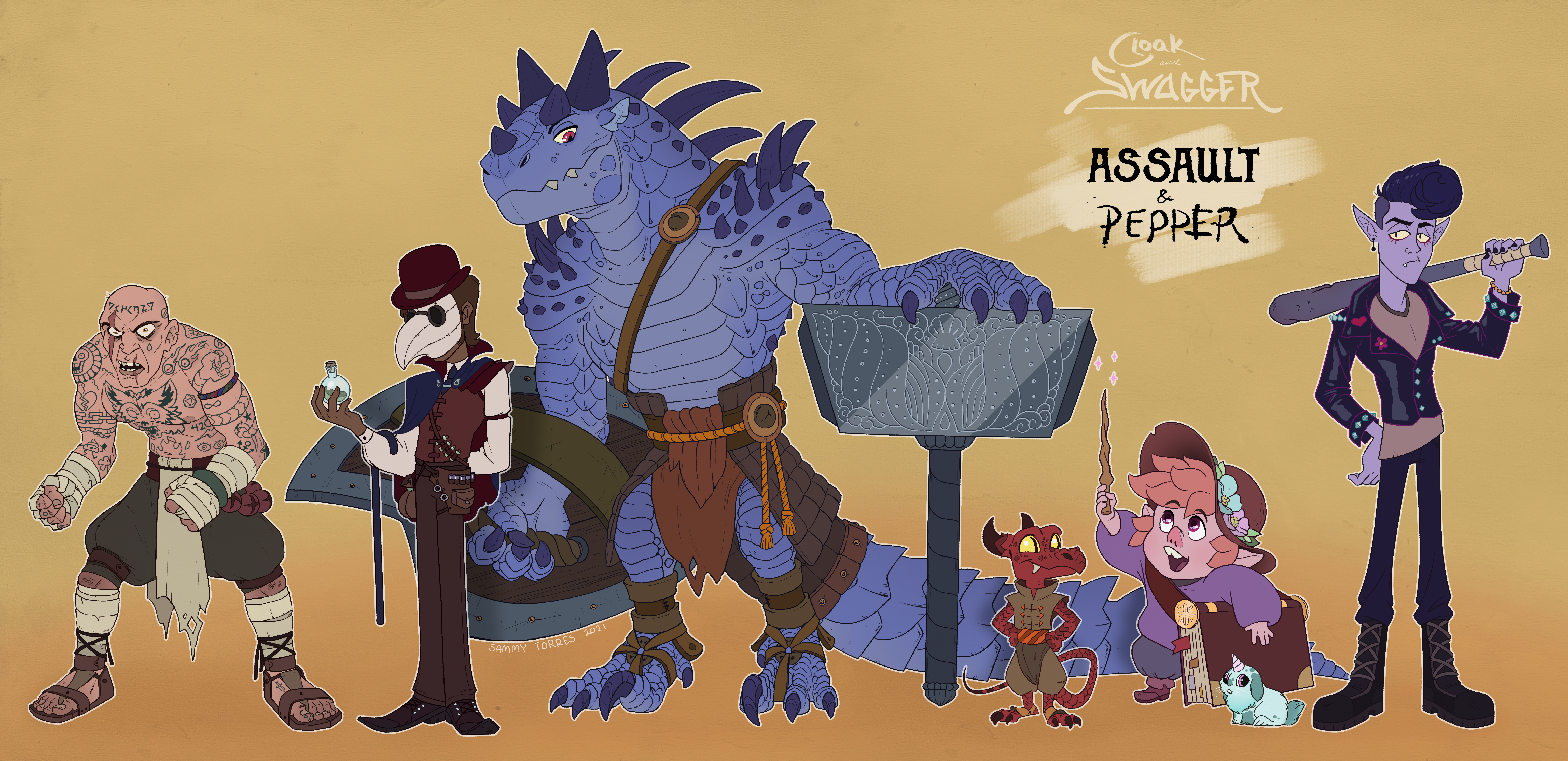 My D&D group - Assault and Pepper