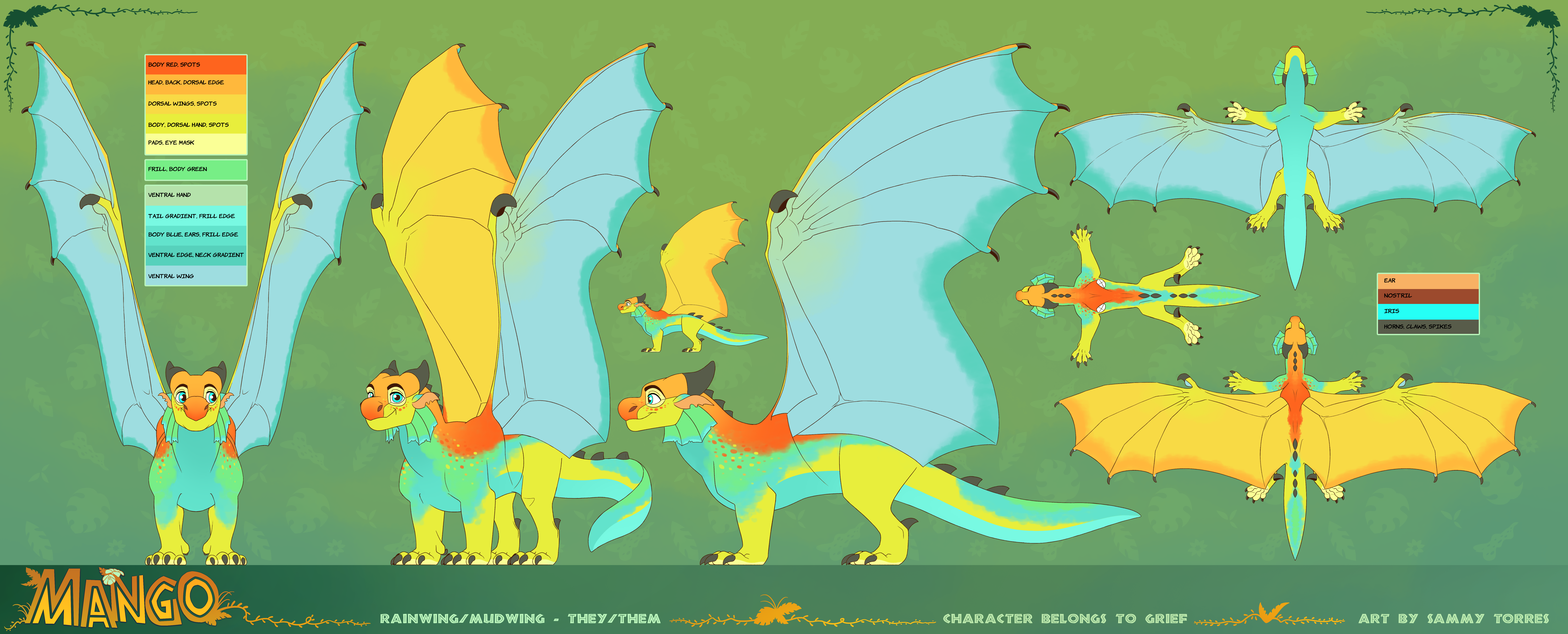 Mango - Reference Sheet (commission)