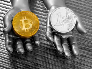 VERGLEICH: Geldschöpfung von Bitcoin und Euro