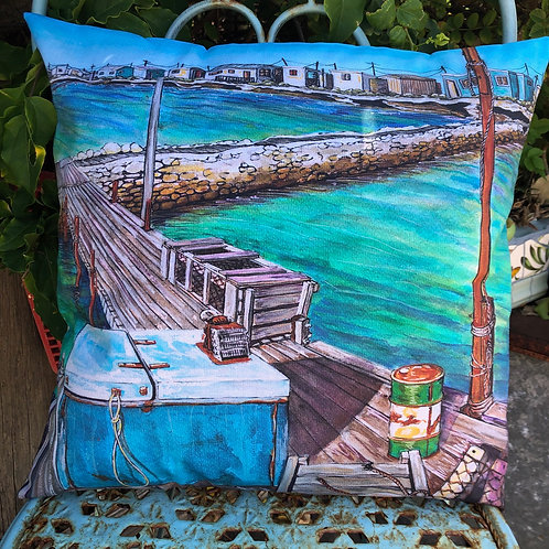 Old stone jetty - Big Rat Island - Abrolhos islands  - cushion cover