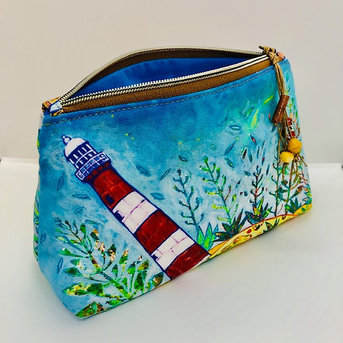 Point Moore Lighthouse cotton lined Pouch