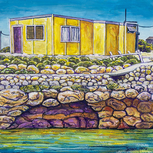 Yellow shack  Big Rat Island  fine art Print
