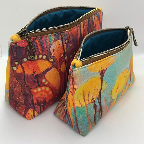Wildflowers #1 - cotton lined pouch