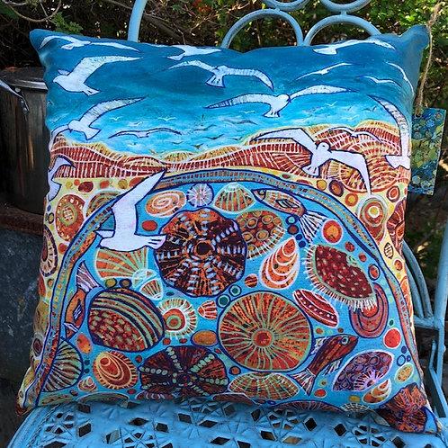 Soaring Seagulls Cushion Cover