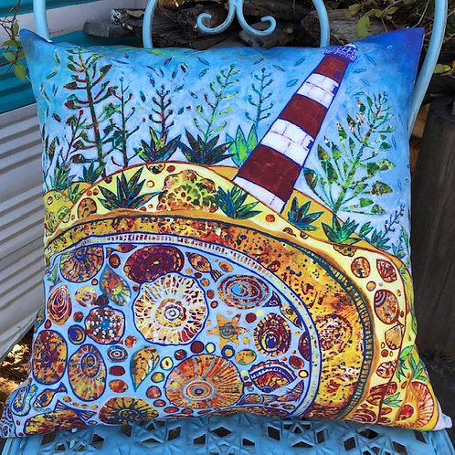 Point Moore Lighthouse Cushion Cover