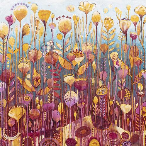 Bountiful blooms square fine art print