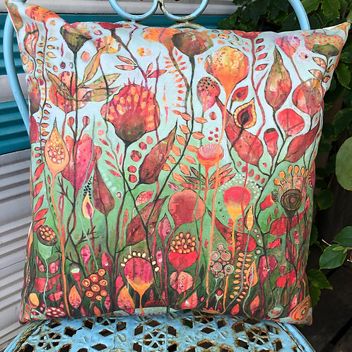 Joyful Blooms throw cushion cover