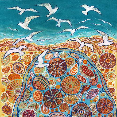 Soaring Seagulls Fine Art Print
