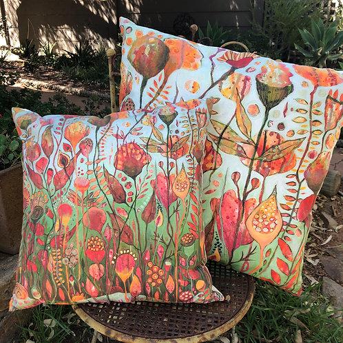 Joyful Blooms cushion cover