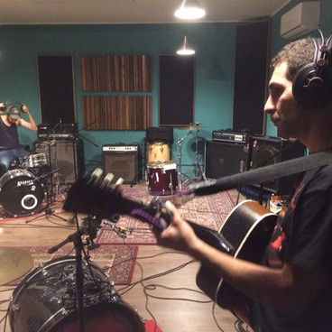 """Evil  Flatmates"" Recording session, Rubedo Studio, Torino, 2018"