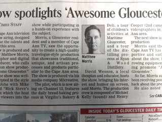 Gloucester Daily Times & YouTube release
