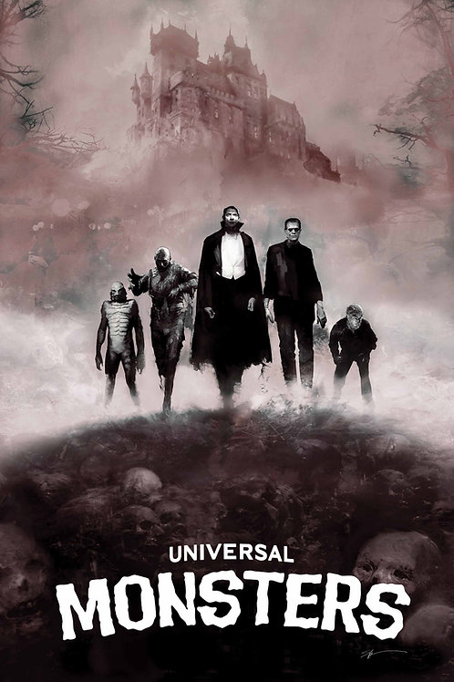 Chromed Edition - Universal Monsters - 24 x 36