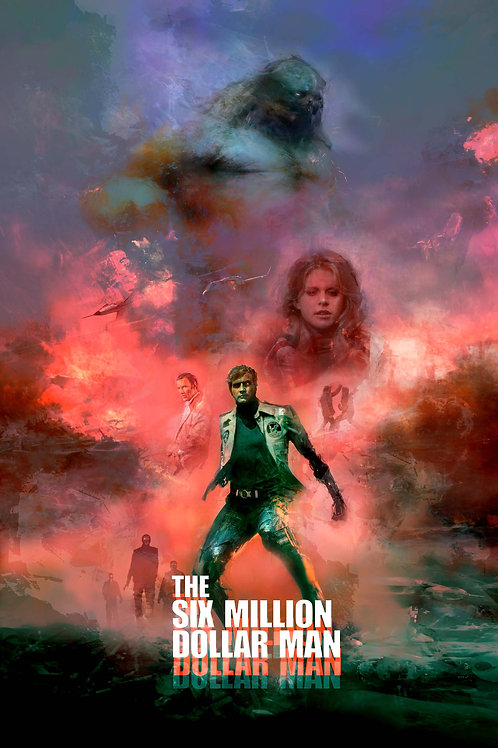 Lg - The 6 Million Dollar Man - 24 x 36