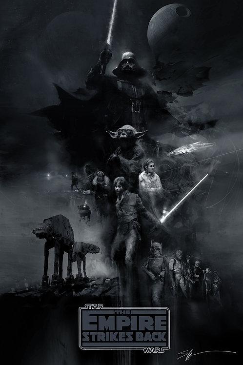CHROMED EDITION - The Empire Strikes Back 24 x 36