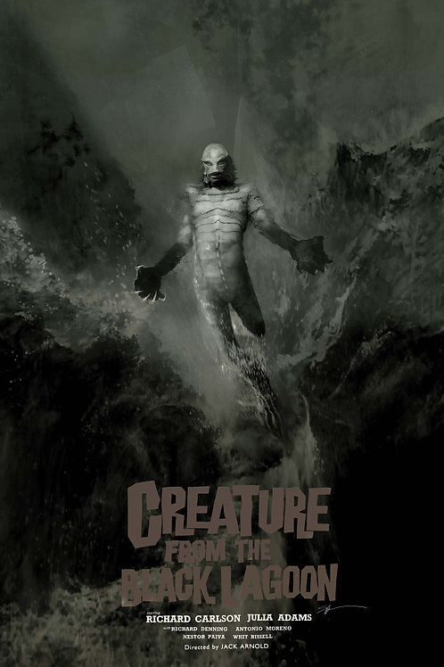 Chromed Edition - Creature from the Black Lagoon - 24 x 36