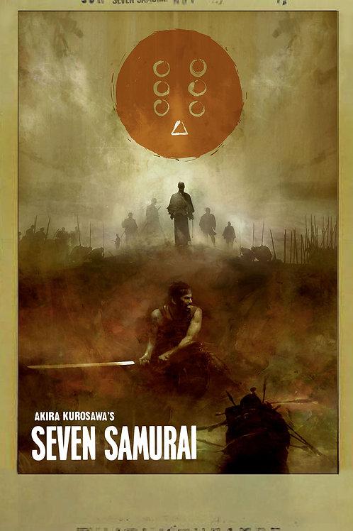 Seven Samurai 24 x 36
