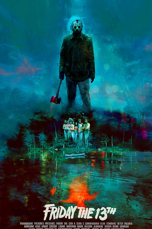 Friday the 13th - Version 2 - 24 x 36