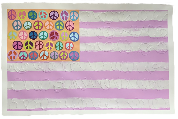 Peace Flag, in Lilac