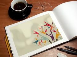 Logodesign Buch