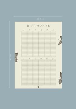Geburtstagskalender Hagebutte