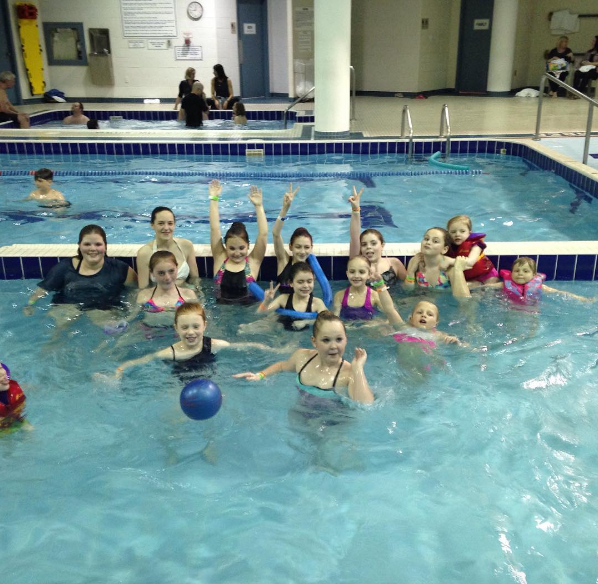 Post-competition fun in the pool!