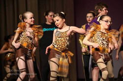 Acro girls in the Recital Finale