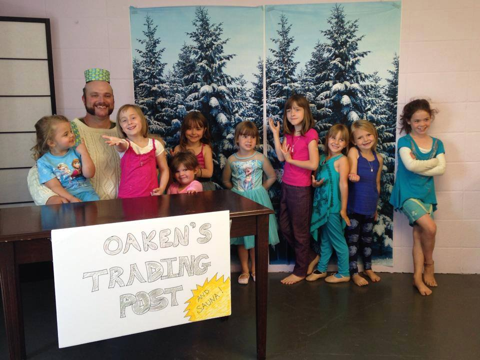 Visit from Oaken - Frozen Camp 2014