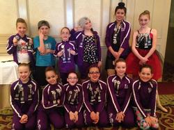 Juniors sport their winnings!