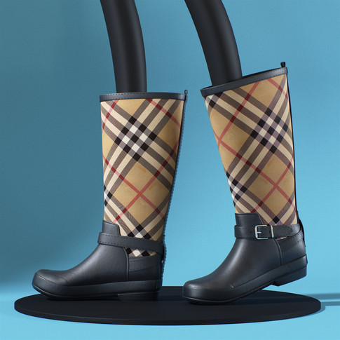 re2_Burberry check boots_01.jpg