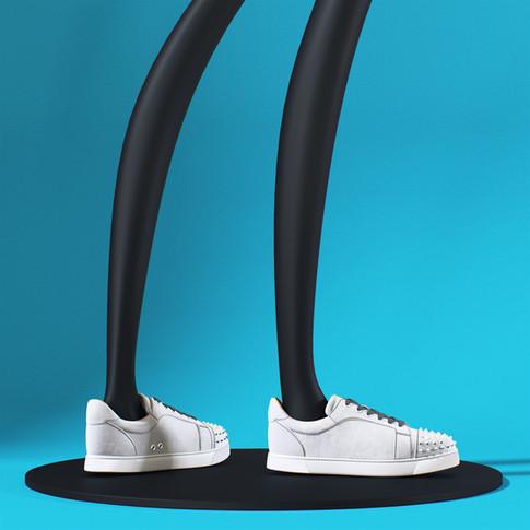 re2_Loboutin gray suede spiked sneakers_01.jpg