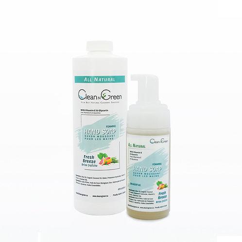 Foaming Hand Soap - 100% Natural (150 ml + 475 ml Refill)