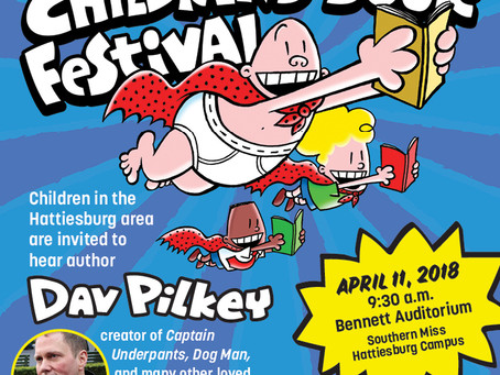 Area School Children Invited to Hear Dav Pilkey, Author of Captain Underpants, on April 11
