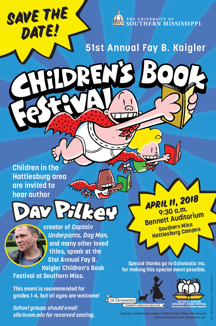Children's Book Festival, Save the Date poster.