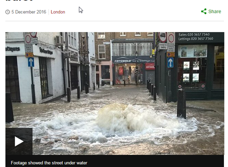 Flooding near the Angel Islington highlights need for basement information