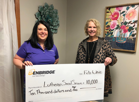 Enbridge gives grant to support LSSND family-strengthening services