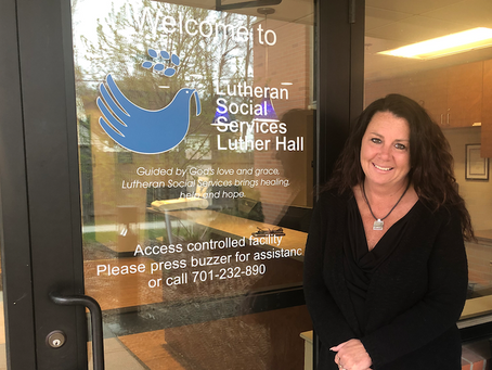 From resident to RN: Woman's life journey brings her back to Luther Hall to help others