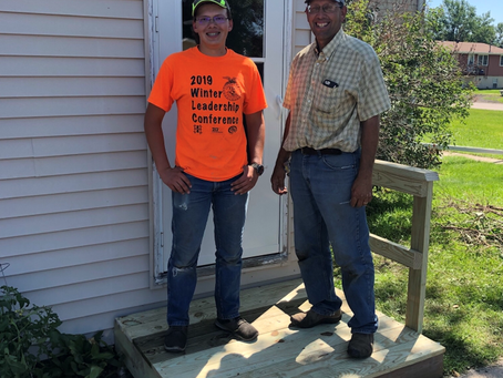 Step right up: Volunteers and Thrivent help us make Lakota property safer and more welcoming