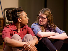 Tonasia Jones and Louise Hammill in Don't Give Up the Ship (photo credi Emma Young)