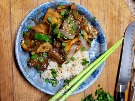 Recipe: Eggplant and Tofu in Garlic Sauce
