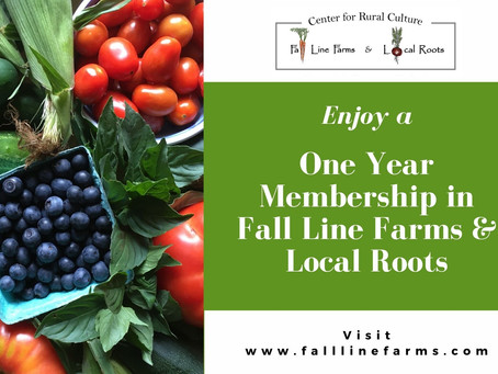 Give the Gift of LOCAL! Fall Line Farms and Local Roots Gift Certificates Now Available!