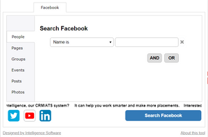 Sourcing From Facebook Part Three- Searching Facebook With Tools